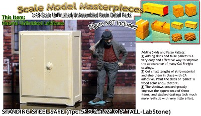 1800s Standing Steel Safe (1pc) YORKE/Scale Model Masterpieces O/On3/On30/1:48 *NEW*
