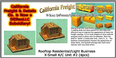 Rooftop Residential/Light Business X-Small A/C Unit #2 (2pcs) N/Nn3/1:160-Scale California Freight & Details Co
