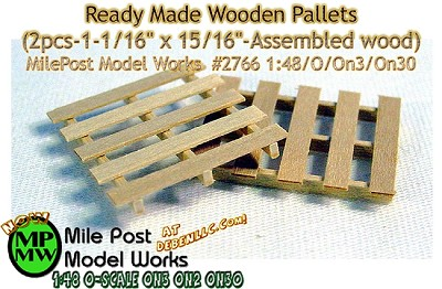 Ready Made Wooden Pallets (2pcs-1-1/16