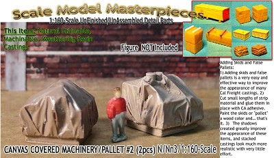 Canvas Covered Machinery/Pallet  #2 (2pcs) Scale Model Masterpieces-N/NN3