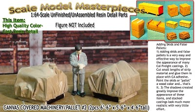 Canvas Covered Machinery/Pallet  #2 (2pc) Scale Model Masterpieces Sn3/Sn2/1:64