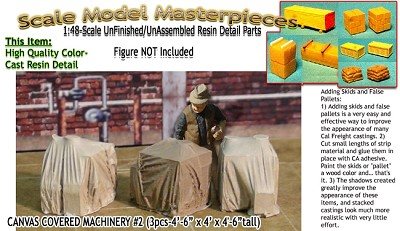 Canvas Covered Machinery #2 (3pc) Scale Model Masterpieces/YORKE 1;48/On30