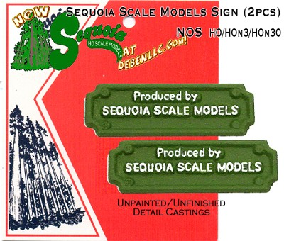 Sequoia Scale Models Sign (2pcs) Sequoia Scale Models HO/HOn3HOn30/HOn2