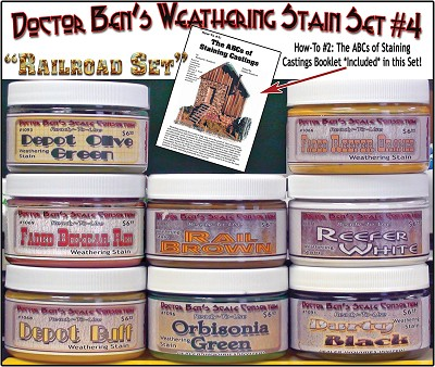 Weathering Stain Set #4 & Booklet #2 & #5504 Junk Pile-Doctor Ben's
