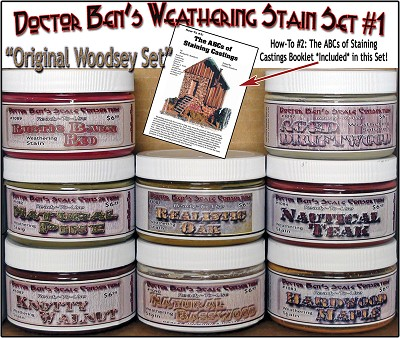 Weathering Stain Set #1 & Booklet #2 & #5501 Junk Pile-Doctor Ben's Scale Consortium