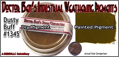 Dusty Buff Weathering Pigment-2oz Doctor Ben's Scale Consortium