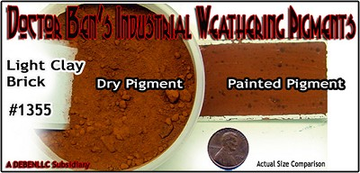 Light Clay Brick  Weathering Pigment-2oz Doctor Ben's Scale Consortium