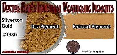 Silverton Gold Weathering Pigment-2oz Doctor Ben's Scale Consortium