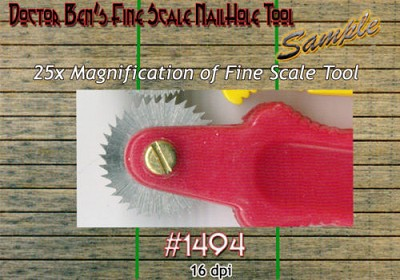 Fine Scale Nail Hole Tool Doctor Ben's Scale Consortium for 1:48/On30/On3