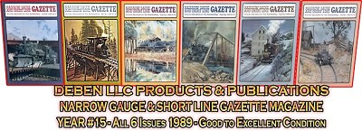 1989 Narrow Gauge & Short Line Gazette Magazine-Individual Issues