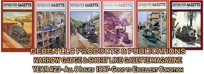 1997 Narrow Gauge & Short Line Gazette Magazine-Individual Issues