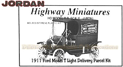 Jordan Highway Miniatures 1911 Ford Model T Light Parcel Delivery Kit NOS HO/1:87