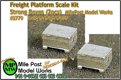 Strong Boxes (2pcs) - O/On3/On30 1:48-Scale MilePost Model