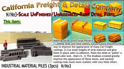 INDUSTRIAL MATERIALS-STACKED (3pcs) Scale Model Masterpieces-N/NN3 *NEW*