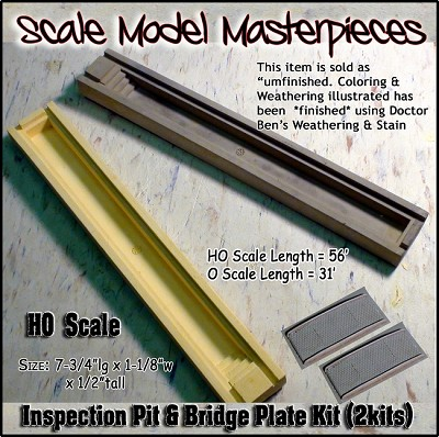 56ft Inspection Pits & Bridge Plates (2kits)  Scale Model Masterpieces HO/1;87
